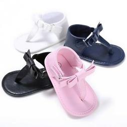 0-18M Baby Girls PU Soft Sole Sandals Summer Baby Crib Shoes