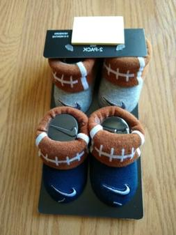 2 NIKE Baby Booties 0-6 Months Infant Football Sports Boys C