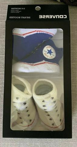 2 Pair Converse  0-6 Months Infant Baby Booties Infant Cream