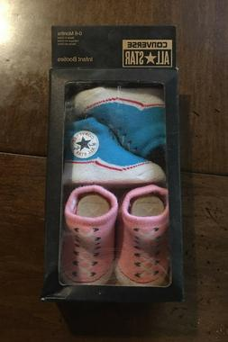 2 Pair Converse Girl Chuck Taylor 0-6 Months Baby Booties In