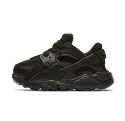 Nike $50 Huarache Run TD  Athletic Sneaker Shoe BLACK NEW