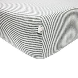 Burt's Bees Baby - Fitted Crib Sheet, Boys & Unisex 100% Org