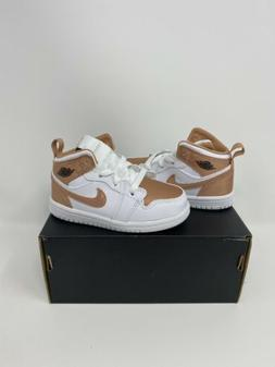Nike Air Jordan 1 Mid TD Toddler Shoes 644507-190 Rose Gold