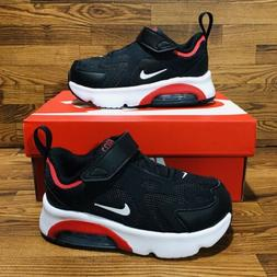 Nike Air Max 200 TD  Black Red Athletic Sneakers Boys Shoes