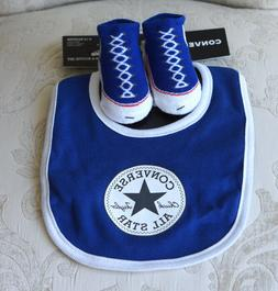 Converse All Star Girls or Boys Infant Bib & Booties Set Siz