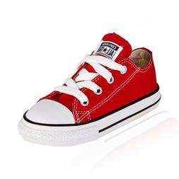 Converse All Star Ox Red White Canvas Boys Girls Infant Todd