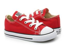 Converse All Star Ox Red White Toddler Infant Baby Boys Girl