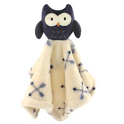 Hudson Baby Animal Friend Plushy Security Blanket, Blue Owl