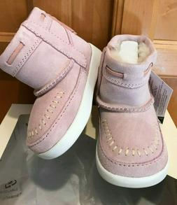 AUTHENTIC UGG CALI MOC CAMPFIRE BABY PINK BOOTIE TODDLER  SI