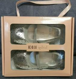 BABY BLOCH ANGELICA SILVER BABY SHOES BALLERINA SIZE: 12M