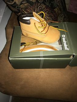 TIMBERLAND Baby Boy Size 3 Wheat Brown Nubuck Leather Classi