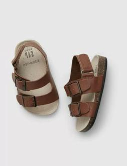 Gap Baby Boy Toddler Buckle Cork Sandals Shoes Brown Size 12