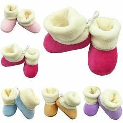 Baby Boys Girls Booties Slippers Infant Soft Snow Boots Cott