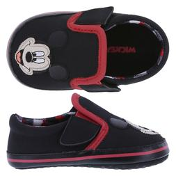 Disney Baby Boys' Infant Mickey Mouse 1W Slip-On Shoes