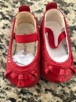Baby Bloch Frilled Red Shoes