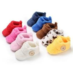 baby girl boy soft sole booties snow