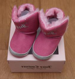 Juicy Couture Baby Girl Crib Shoes ~Baby Burbank ~Pink & Sil