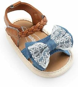 Baby Girl Sandals - Soft Sole Infant Girl Summer Crib Shoes