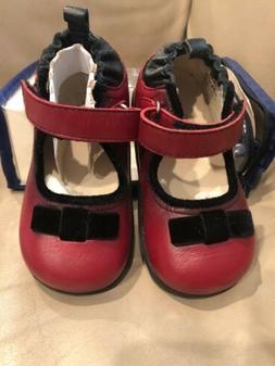 Baby Girls Robeez Tredz Shoes 12-16 Mo Red Leather Mary Jane