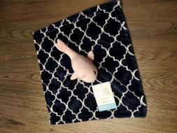 Hudson Baby Pink navy blue Whale Soft Security Blanket Nauti