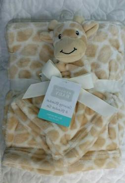 HUDSON BABY Baby Security Blanket Set Giraffe Boys Girl Tan