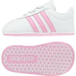 Adidas Baby Shoes Crib Soft Leather VL Court Girls Sneakers
