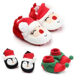 Baby Shoes Cute Christmas Newborn First Walkers Slippers Win