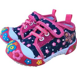 Baby Toddler Girl Shoes Size 5 Chulis Denim Pink Sneakers