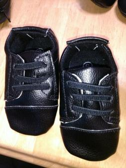 Black Dress Shoes Oxford Baby Boy Booties Size 2 NEW Luvable