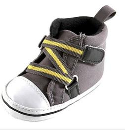 Luvable Friends Boy Zig Zag High Top Grey 12-18 Months  Shoe