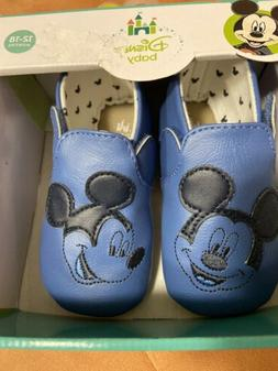 Boys Mickey Mouse Footwear Shoes 12-18 Months Blue Baby Boy