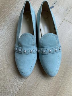 Anthropologie Butter Women's Size 9 Baby Blue pastal Suede l