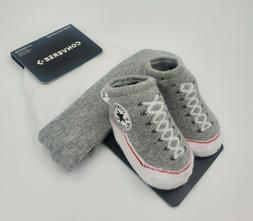 Converse Chuck Taylor Baby Hat & Booties Gift Set, Size 0-6