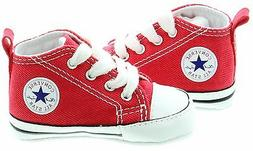 Converse Chuck Taylor Red White Baby Boy Girl New Born Crib
