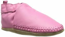 Robeez Classic Moccasin Crib Shoe  12-18 Months Infant Pink