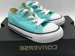CONVERSE CTAS OX Shoes Infant Toddler Size 7 Light Aqua Blue