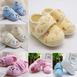 Cute Toddler Infant Baby Girls Boys Solid Soft Sole Prewalke
