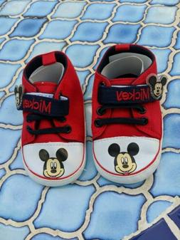 Disney Mickey Mouse Baby First Walker Shoes unisex 7-12 mont
