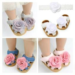 Fashion New Baby Girls Crib Shoes Toddler Rubber Soles Summe