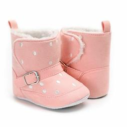 First Walkers Winter Boots Walking Shoes For Baby Polka Dots