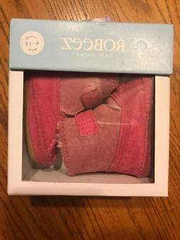 **Robeez Galway Cozy Booties - Baby Girls Size 6-12 Months,