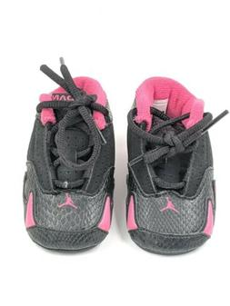 Girls Jordan 14  Retro Pink Black Toddler Baby Infant Shoe S