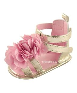 Girls LUVABLE FRIENDS gold sandals 6-12 months NWT pink shoe