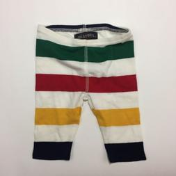 Hudsons Bay 0-3 Month Baby Pants Bottoms Striped Cotton NWOT