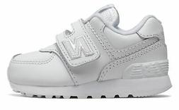New Balance Infant 574 Hook and Loop Shoes White