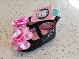 Gerber Infant / Baby Shoes -  0-6 Months - Black with Pink F