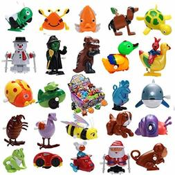 JOYIN 24 Pieces Assorted Wind-up Toys for Kids Party Favors