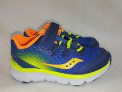 Saucony Kids' Boys Baby Freedom Iso Sneaker, Blue/Citron, Si
