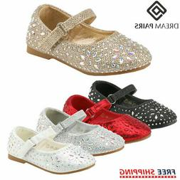 DREAM PAIRS Kids Girls Toddlers Flat Shoes Mary Jane Shoes P