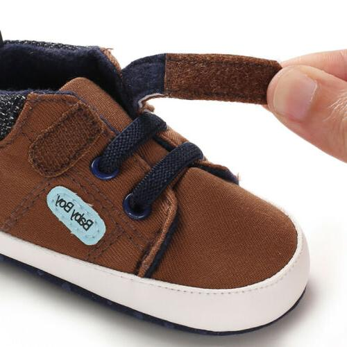 0-18M Shoes Boy Girl Leather Crib Sole